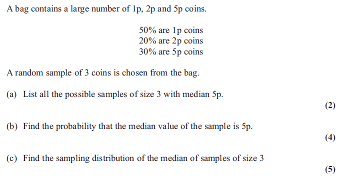 Exam questions estimation and sampling median examsolutions edexcel s2 june 2013 q1 ccuart Gallery