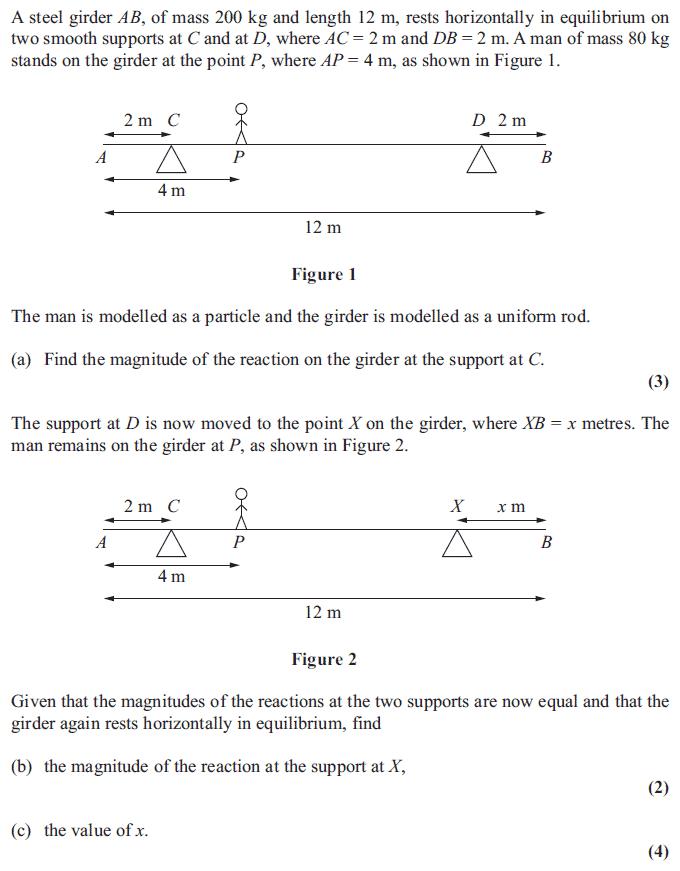 Edexcel M1 January 2013 – Q2