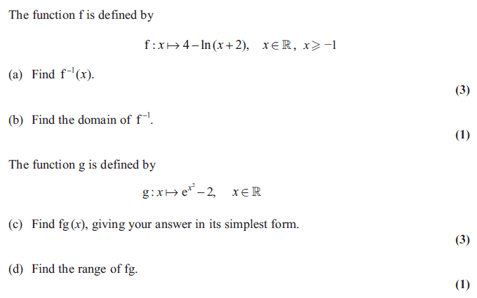 Exam Questions Inverse functions ExamSolutions – Algebra 2 Inverse Functions Worksheet