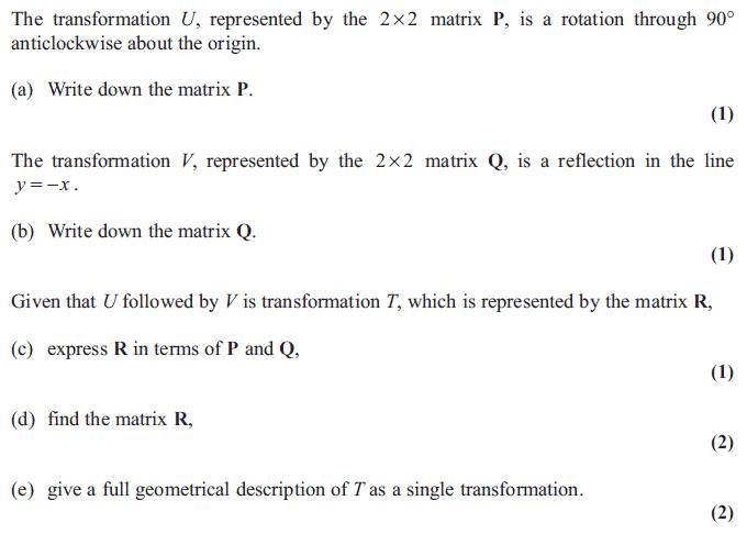 Exam Questions Matrix transformations ExamSolutions – Matrix Multiplication Worksheet