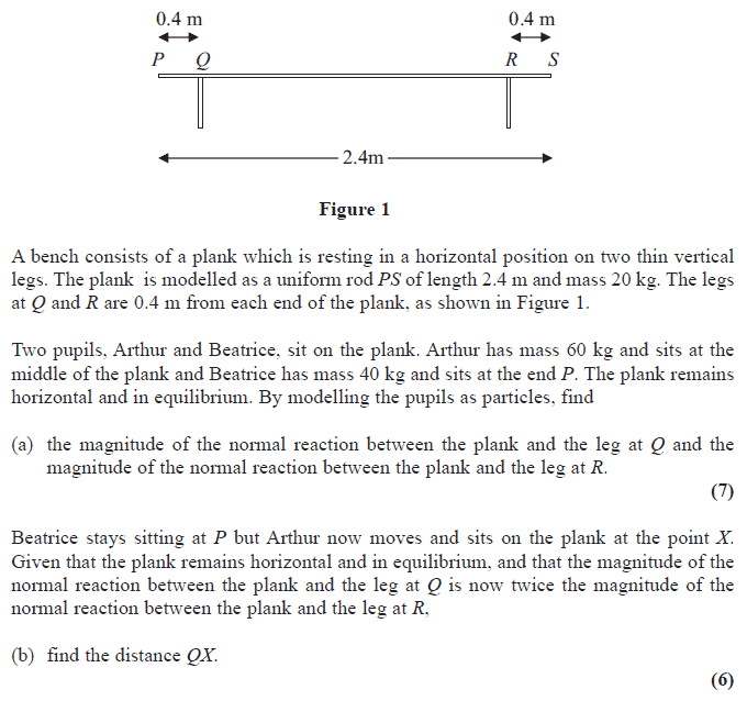 Edexcel M1 January 2009 – Q4