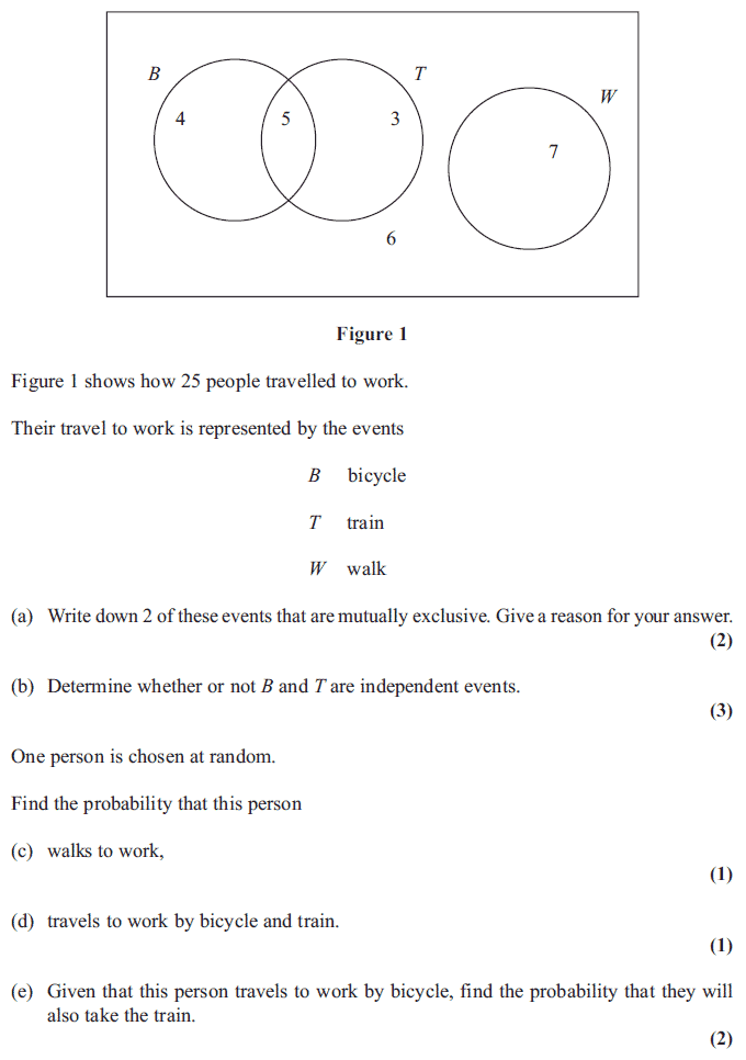Exam Questions Venn diagrams ExamSolutions – Venn Diagram Probability Worksheet