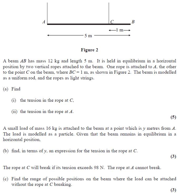 Edexcel M1 January 2008 – Q5