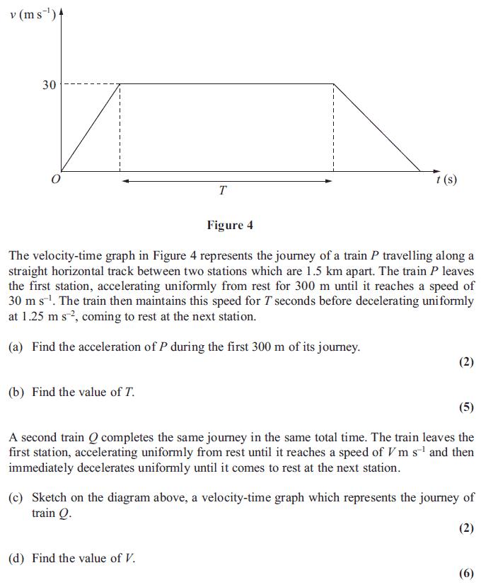 Edexcel M1 January 2013 – Q5