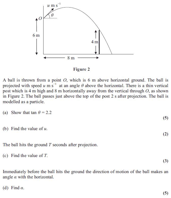 Edexcel M2 January 2013 – Q6