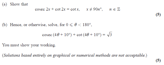 c3 trig questions Maths a level teaching resources for core 3 and core 4 resourceaholic  reciprocal trig questions  c3 trigonometry and differentiation .