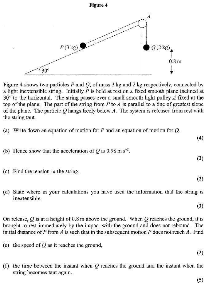 Edexcel M1 January 2007 – Q7