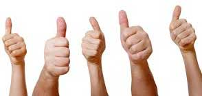Testimonial - Thumbs Up