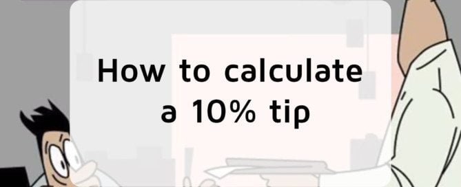 How to calculate a 10% tip