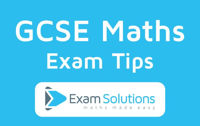 GCSE Maths Exam Tips