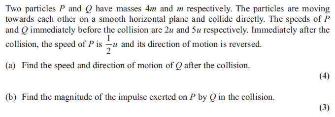 Exam Questions - Momentum and impulse | ExamSolutions