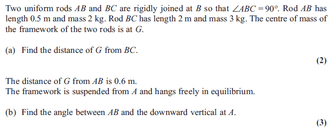 Edexcel M2 January 2013 – Q1
