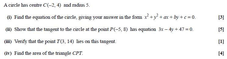 Exam Questions - Circles | ExamSolutions