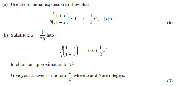 Exam Questions Binomial Expansion Examsolutions
