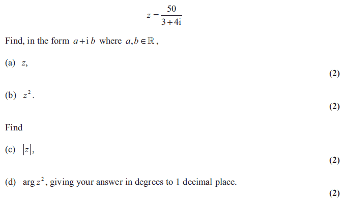 Exam Questions - Complex numbers | ExamSolutions