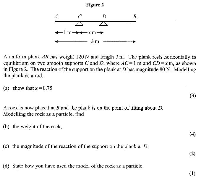 Edexcel M1 January 2007 – Q2