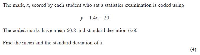 Edexcel S1 June 2014 – Q2