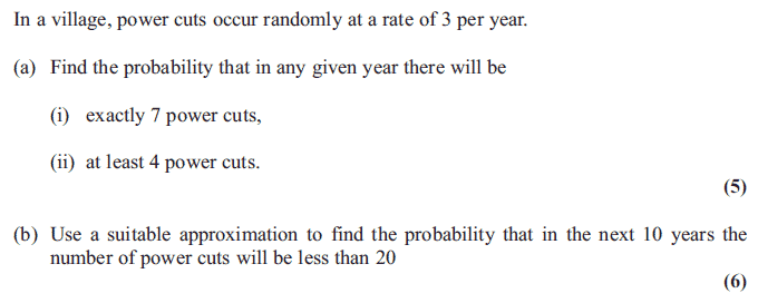 Exam Questions - Poisson distribution | ExamSolutions