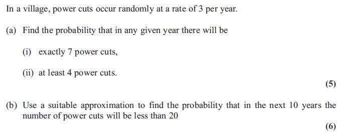 Edexcel S2 January 2013 – Q2