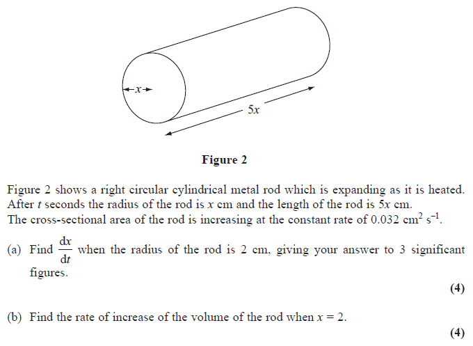 Exam Questions - Connected rates of change | ExamSolutions