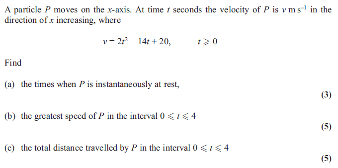 Exam Questions Linear Motion With Variable Acceleration