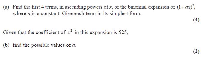 Edexcel C2 June 2010 – Q4
