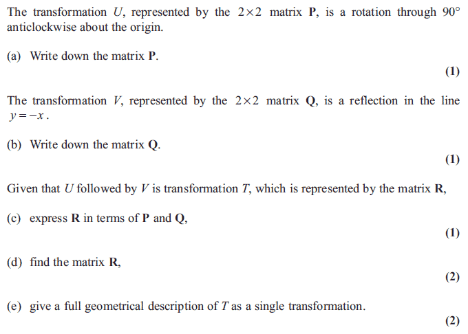 Edexcel FP1 January 2013 – Q4