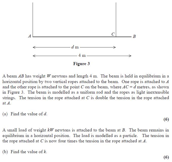 Edexcel M1 June 2014 – Q4