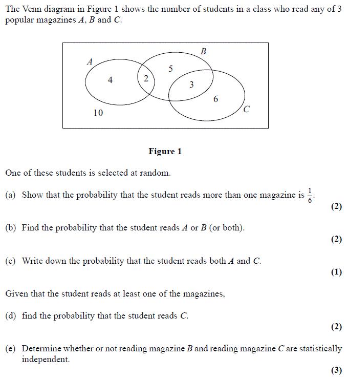 Venn Diagram Probability Exam Questions - Wiring Diagrams Dash