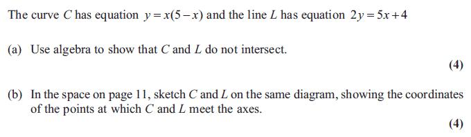 Edexcel C1 January 2012 – Q5