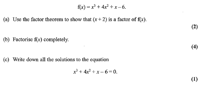 Exam Questions Factor theorem ExamSolutions – Factor Theorem Worksheet