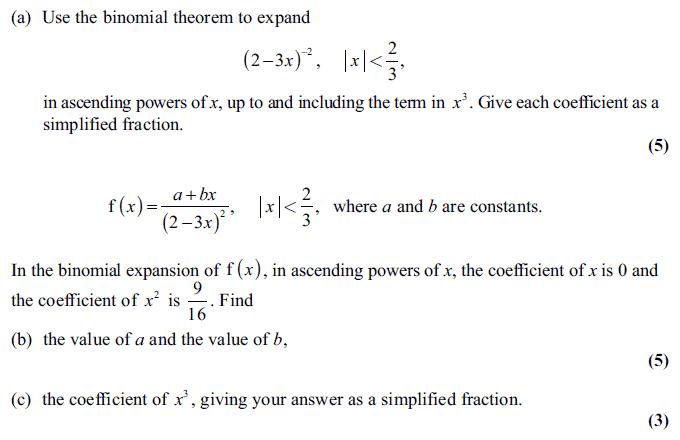 Edexcel C4 January 2011 Q5: Binomial Theorem Worksheet At Alzheimers-prions.com