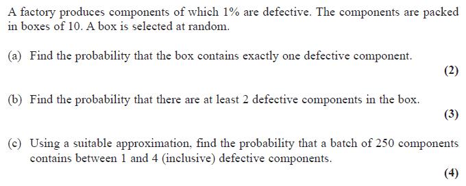 Exam Questions - Binomial distribution | ExamSolutions