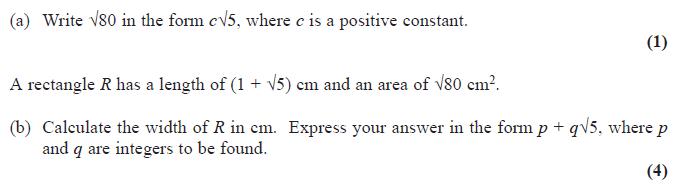 Edexcel C1 June 2014 – Q6