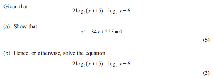 Exam Questions Logarithms Examsolutions