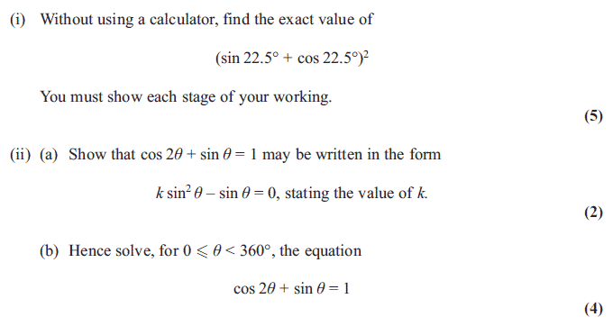 Edexcel C3 January 2013 – Q6