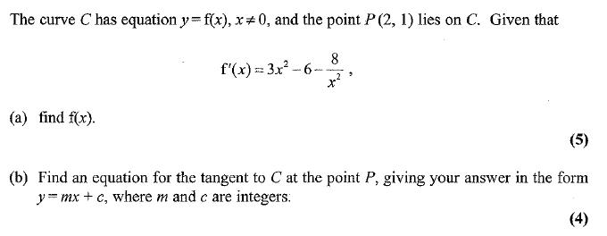 Edexcel C1 January 2007 – Q7