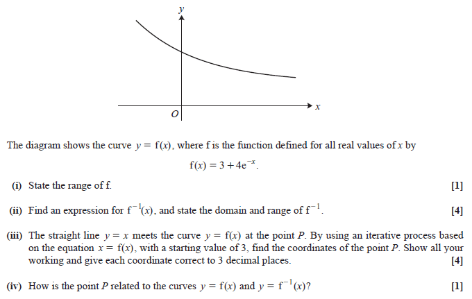 Exam Questions - Domain and range | ExamSolutions