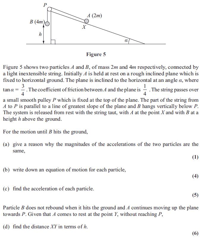 Edexcel M1 January 2013 – Q7