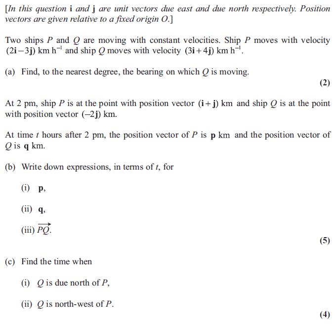 Edexcel M1 June 2011 – Q7