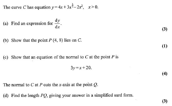 Edexcel C1 January 2007 – Q8