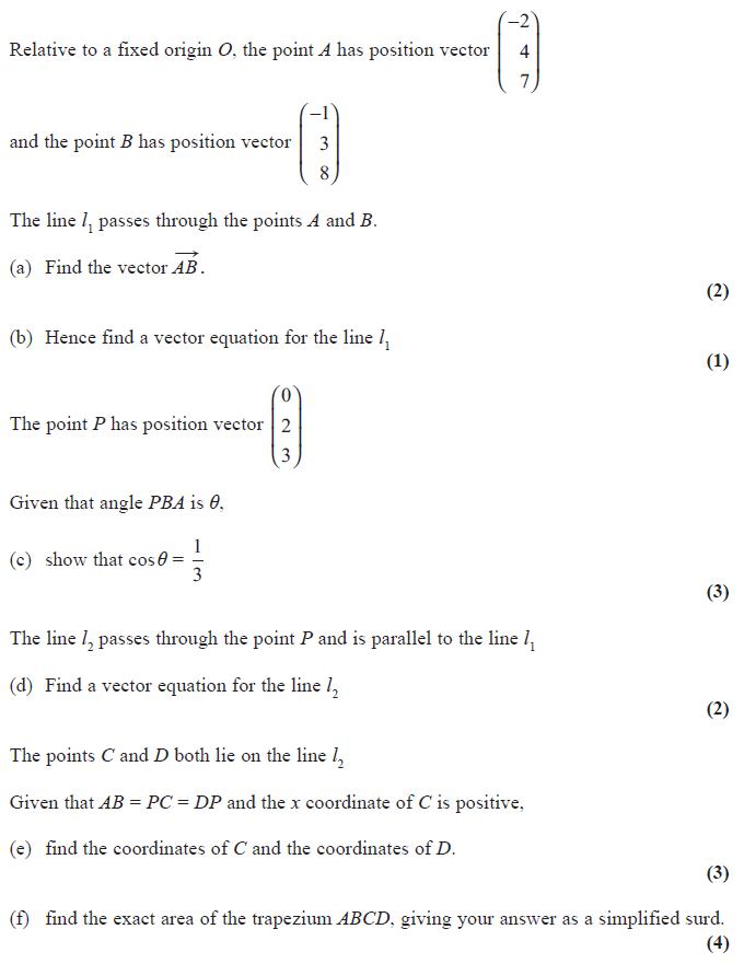 Exam Questions Vectors Examsolutions