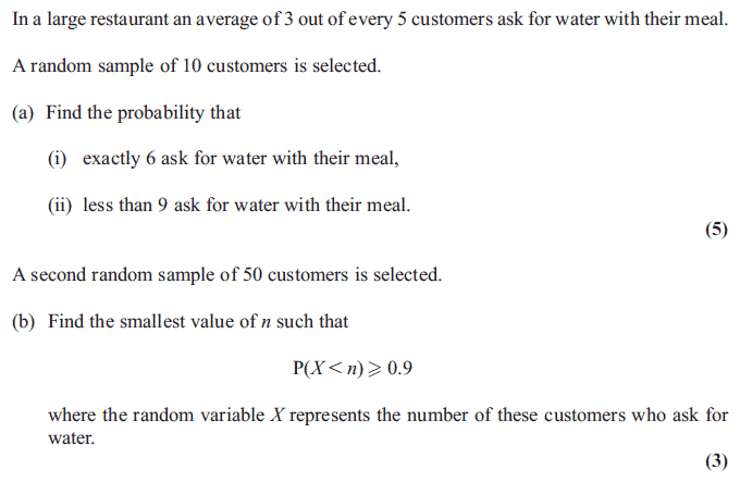 Exam Questions Binomial Distribution Examsolutions. Edexcel S2 June 2012 Q8. Worksheet. Worksheet Binomial Distribution Multiple Choice At Mspartners.co