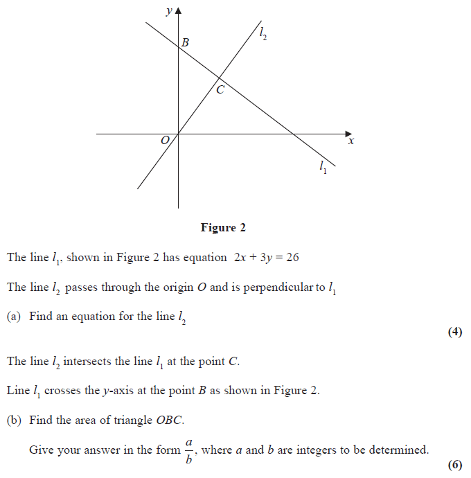 Edexcel C1 June 2014 Q9: Finding The Equation Of A Straight Line Worksheet At Alzheimers-prions.com
