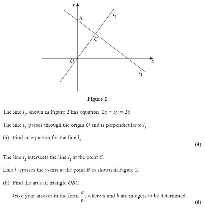 Exam questions straight lines examsolutions edexcel c1 june 2014 q9 ccuart Images