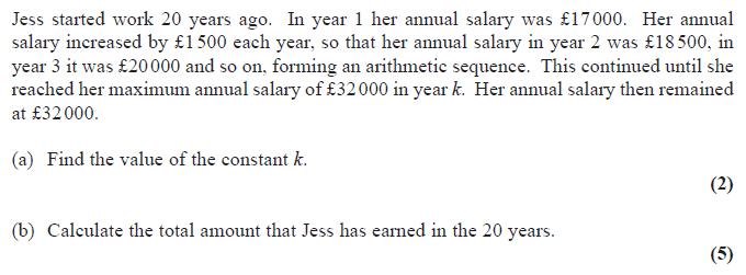 Edexcel C1 June 2015 - Q9
