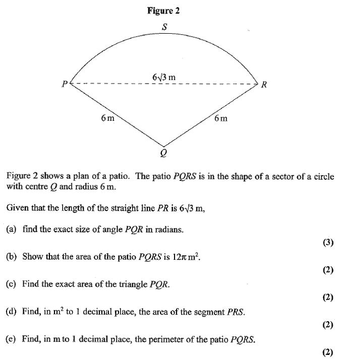 Edexcel C2 January 2007 – Q9