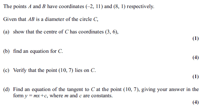 Exam Questions - Circles | ExamSolutions