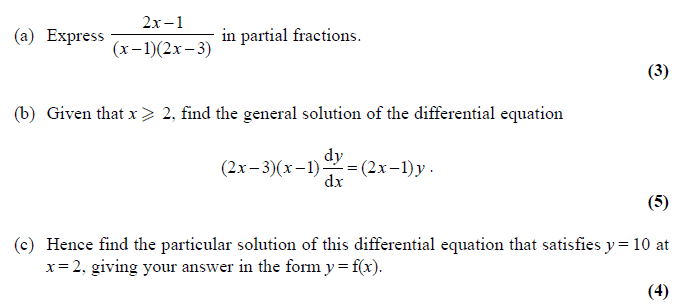 Exam Questions – Forming differential equations | ExamSolutions