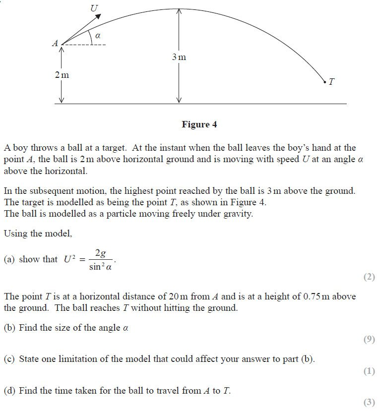 Exam Questions - Projectiles | ExamSolutions